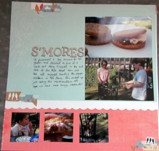 Smore's Layout by purplecrafter.com
